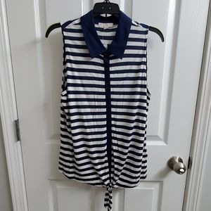 NWT Dress Barn Sleeveless Collared Shirt - sz LP
